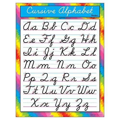 TREND enterprises Inc Cursive Alphabet Modern Learning Chart 17quot x 22quot