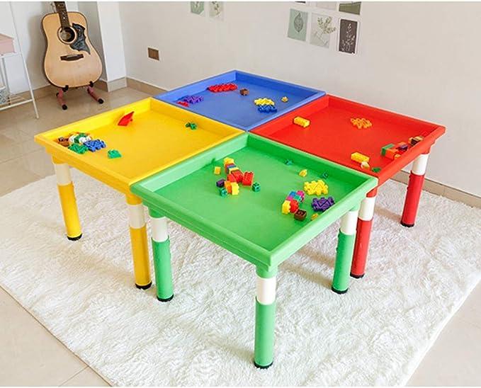 Ryyland-Home Mesa de Juego Espacio Especial Juegos Juguetes for bebés de Arena Mesa de plástico al Aire Libre Puesto Mesa de los niños Mesa de Juego de Juegos for niños Mesa de