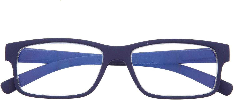 Gafas de Presbicia con Filtro Anti Luz Azul para Ordenador. Gafas Graduadas de Lectura para Hombre y Mujer con Cristales Anti-reflejantes. 6 colores y 6 graduaciones – THYSSEN