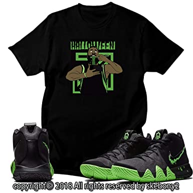 new arrival 7fbda 2fc6d Custom T Shirt Matching Style of Nike Kyrie 4 Halloween Rage ...