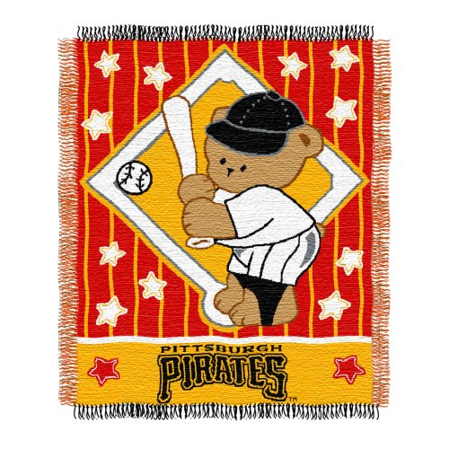 MLB Pittsburgh Pirates 36-Inch-by-46-Inch Woven Jacquard Baby Throw
