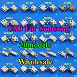 Gimax 20models OEM For Samsung galaxy I9100 I9300 NOTE4 NOTE3 I8262 micro usb connector mini port charging jack replacement parts 7p - (Color: 20models each 1pcs)