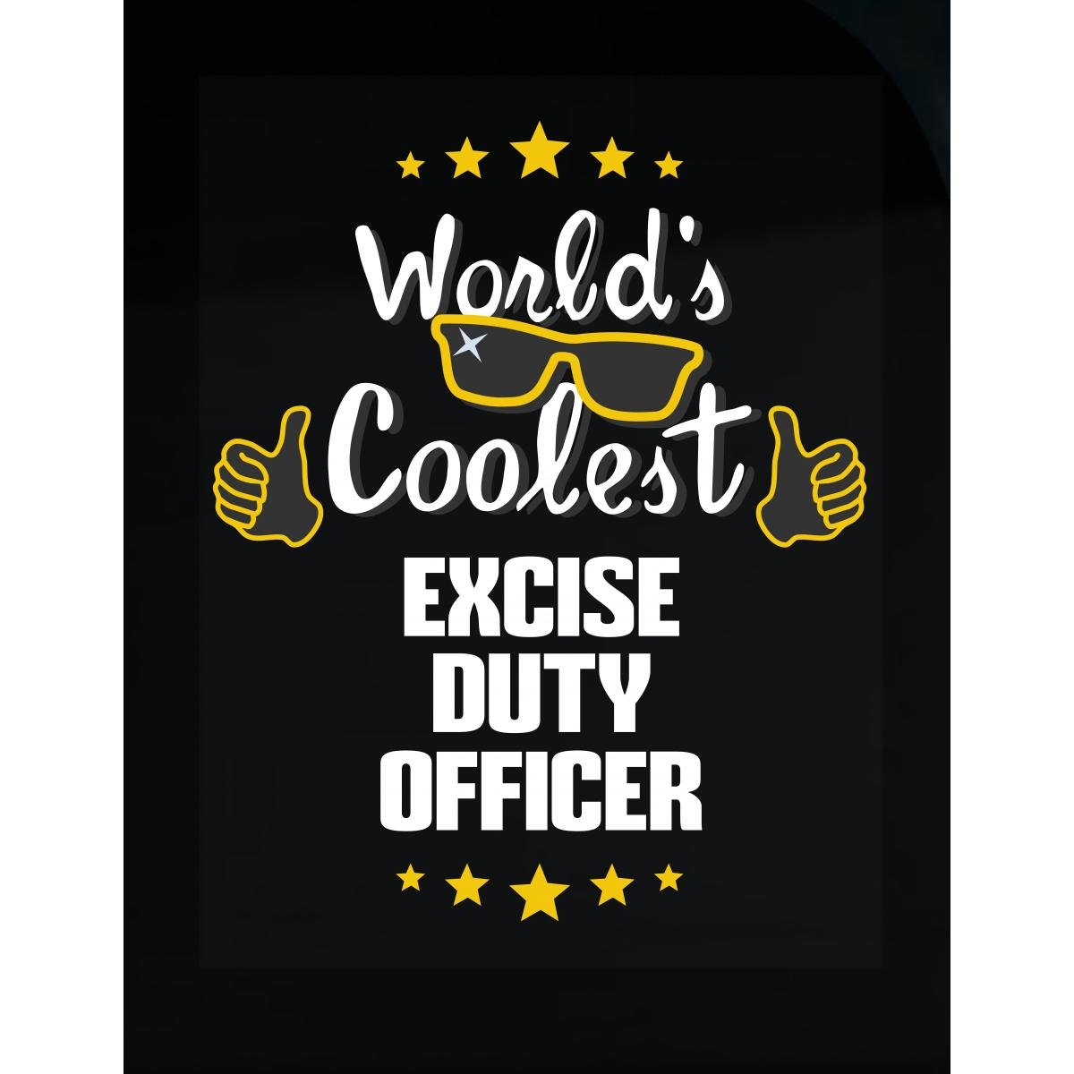 World's Coolest Excise Duty Officer - Sticker