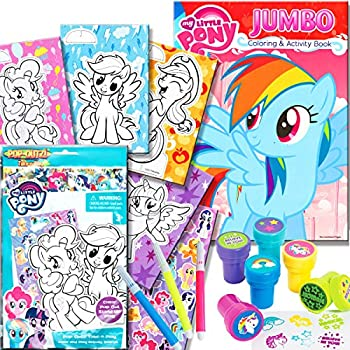 Amazon.com: My Little Pony Coloring Book with Take-N-Play Set, 96 ...