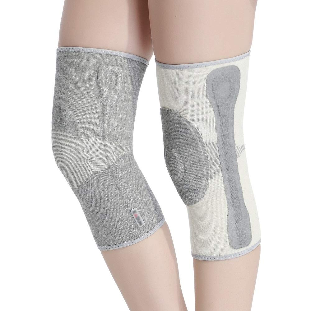 TY BEI Kneepad Kneepad Men and Women Warm Knee Joints Plus Velvet Thickening Self-Heating Knee Pads - 5 Sizes Optional @@ (Color : Gray, Size : S)