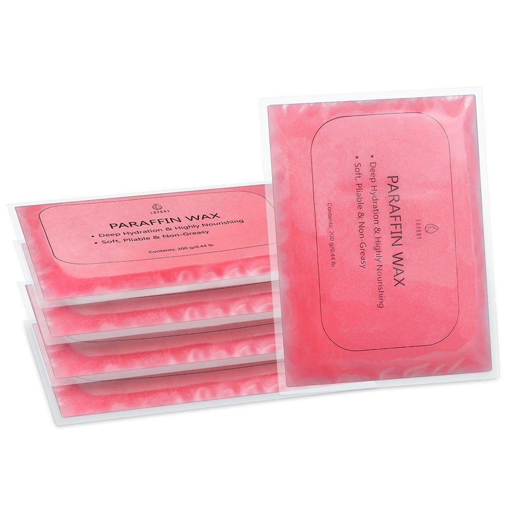 Lavany Cera de Parafina de Rosa, para Uso en Calentadores de Cera de Parafina, 5 Paquetes de 200 g/7.05 oz