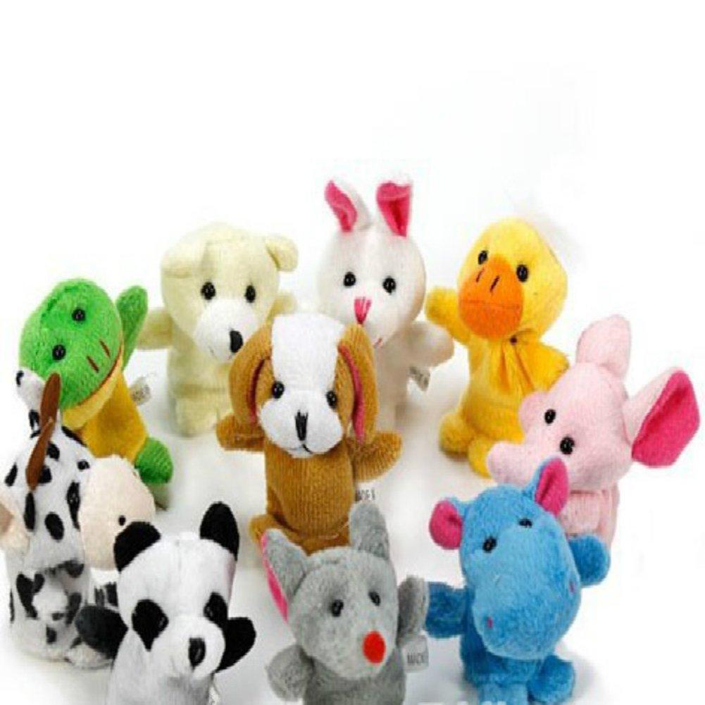 Doitsa 10 Stück Lustige Finger Puppets Finger Plüschtiere Hand Finger Puppets Spielzeug SAMT Puppen