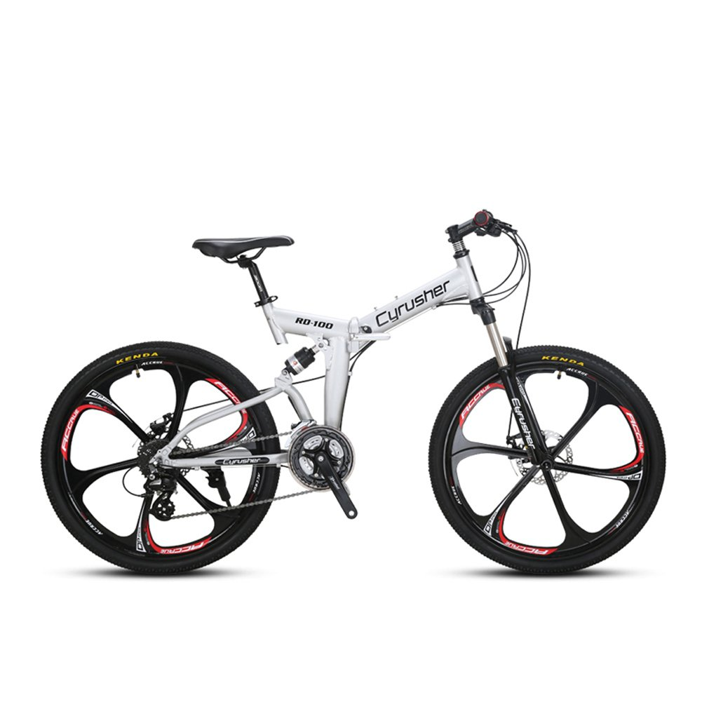 Extrbici RD100 自転車 マウンテンバイク 折りたたみ MTB shimano シマノM310 24段変速 タイヤ26インチ 通勤 通学 マウンテン 前後衝撃吸収 軽量 B07CYPQ5MY 銀 銀