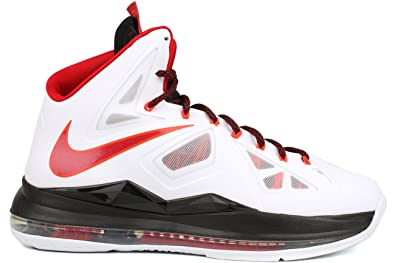 best service 4ff24 c9628 NIKE Lebron X HOME Mens Basketball Shoes 541100-100 White 10 M US