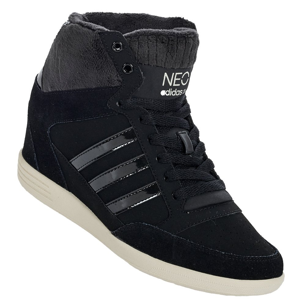 741f6ef36af5 adidas Womens NEO Womens Super Wedge Trainers in Black - UK 7   Amazon.co.uk  Shoes   Bags