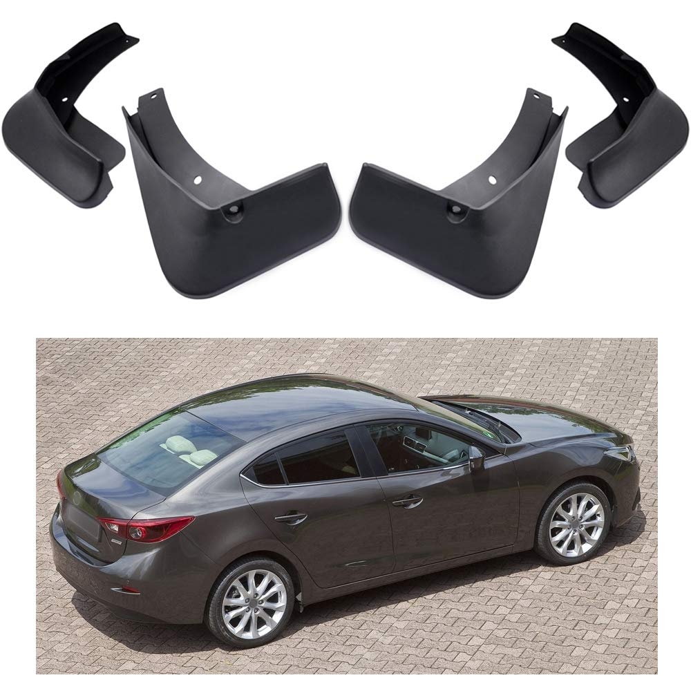 2014-2019 Mazda 3 Sedan MOERTIFEI Car Mudguard Fender Mud Flaps Splash Guard Kit fit for Mazda 3 Sedan 2014-2019