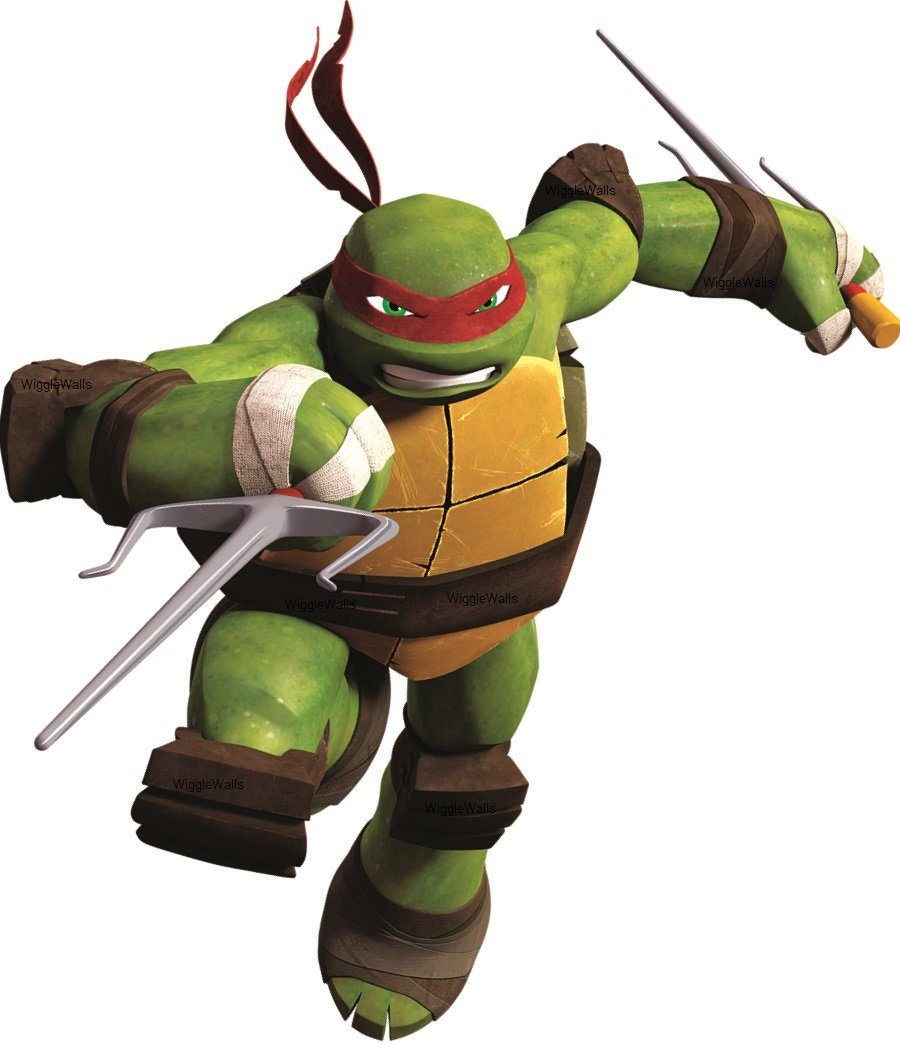 Amazon Com 7 Inch Raph Raphael Red Turtle Tmnt Teenage Mutant Ninja Turtles Movie Removable Peel Self Stick Wall Decal Sticker Art Kids Room Home Decor Boys Room 6 Inch Wide By
