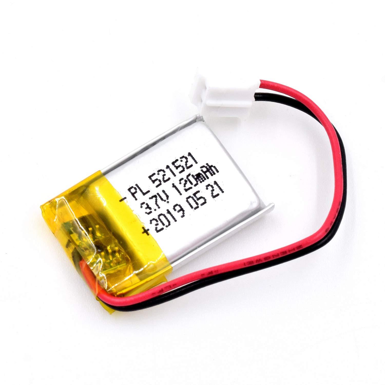 Bateria Lipo 3.7V 120mAh 521521 Recargable JST Conector