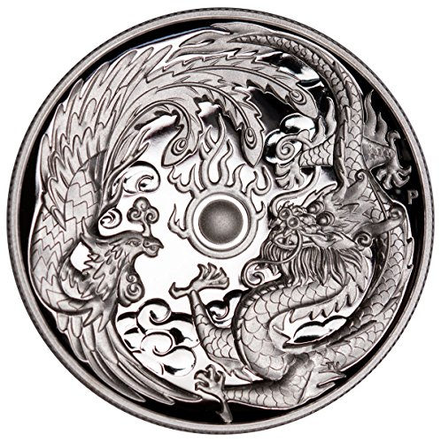 2017 AU 1 oz Silver Australia Dragon & Phoenix 1 Dollar GEM Proof - Silver Oz 1 Gem Proof