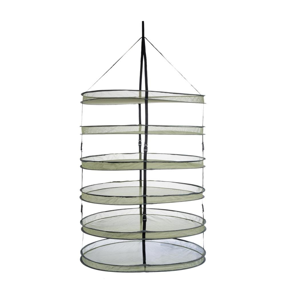 Growtent Garden 3ft 6 Layer Collapsible Mesh Hanging Hydroponic Plant Drying Rack Net