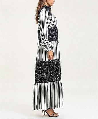 de Longitud Completa Gran Tama/ño Dubai Kaftan KRUIHAN Mujeres Musulmanas Abaya Maxi Vestido