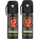 IMPOWER Men's and Women's Self Defence Pepper Spray (Upto 12 ft and 45 Shots) - Pack of 2