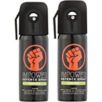IMPOWER Self Defence Unisex Pepper Spray Sprays Upto 12ft and 45 Shots - Pack Of 2