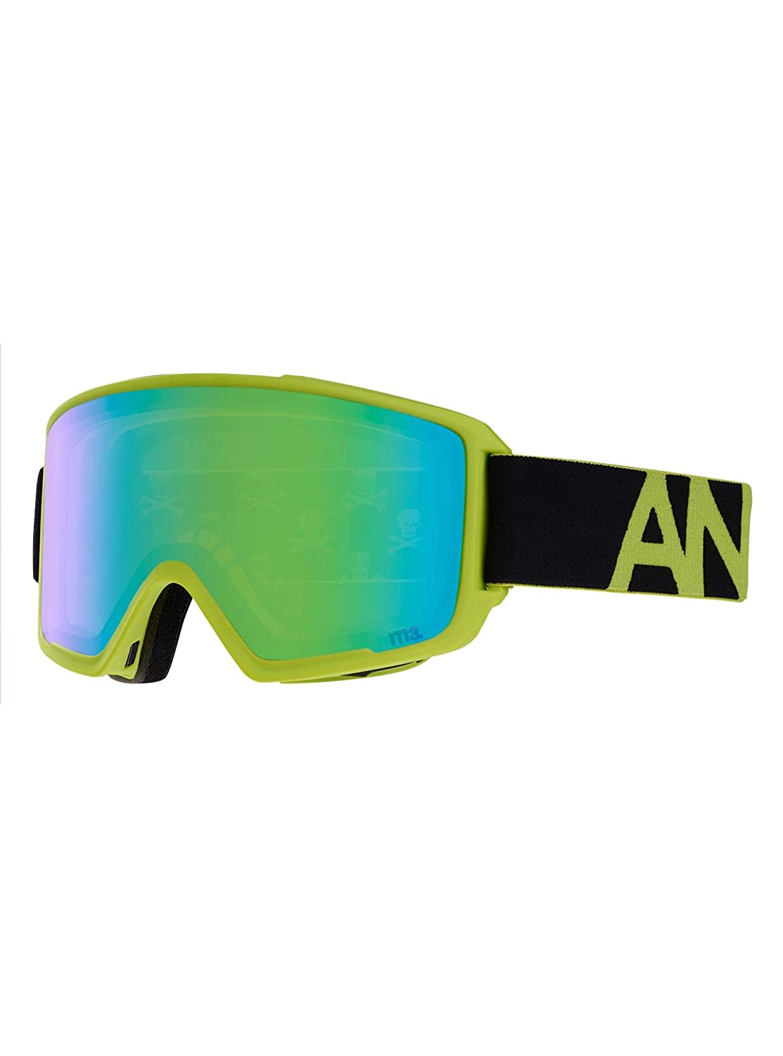 ff1ac13d7b8a Amazon.com   Anon M3 w Spare Goggles Black Green Sonar Green and Sonar  Infrared Lens Mens   Sports   Outdoors