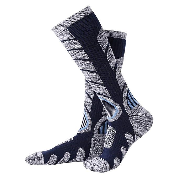 Amazon.com : LKIHHBN Winter Warm Men Women Thermal Ski Calcetines Thick Cotton Snowboard Cycling Skiing Soccer Socks Leg Warmers Long Sock Black L : Sports ...