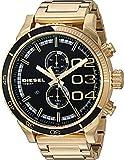 48 watch display case - Diesel Men's DZ4337 Double Down 48 Analog Display Analog Quartz Gold Watch