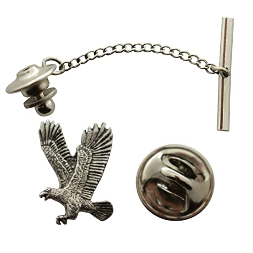 17822a58743f Image Unavailable. Image not available for. Color: Eagle Flying Tie Tack ~  Antiqued Pewter ~ Tie Tack or Pin ~ Sarah's Treats &