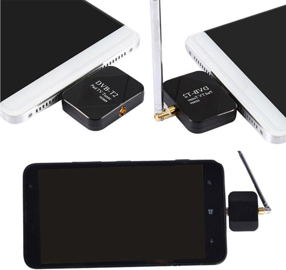 Receptor + antena DVB-T2 DVB-T Mini receptor de TV digital inalámbrico sintonizador de TV HD con adaptador de sintonizador para Android SmartPhone Tablet, negro: Amazon.es: Iluminación