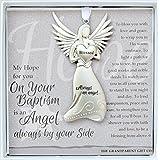 The Grandparent Gift Baptism Keepsake Angel, Gray, Silver, 1 Pack