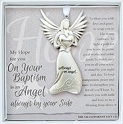 Always an Angel On Your Baptism Keepsake...