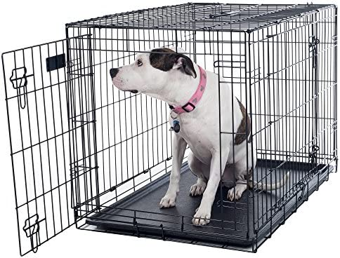 PETMAKER Small 2 Door Foldable Dog Crate Cage, 24 x 19