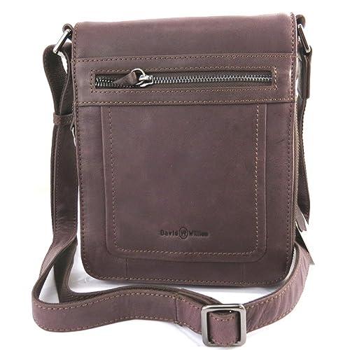 9bd6487c2a6e Francinel  L8315  - Leather bag  David William  brown vintage.   Amazon.co.uk  Shoes   Bags