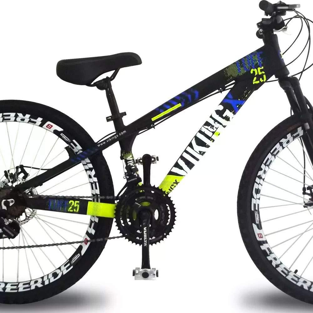 d92dfaaf09 Bicicleta Vikingx Tuff 25 Freeride Aro 26 Freio à Disco 21 Marchas   Amazon.com.br  Esportes e Aventura