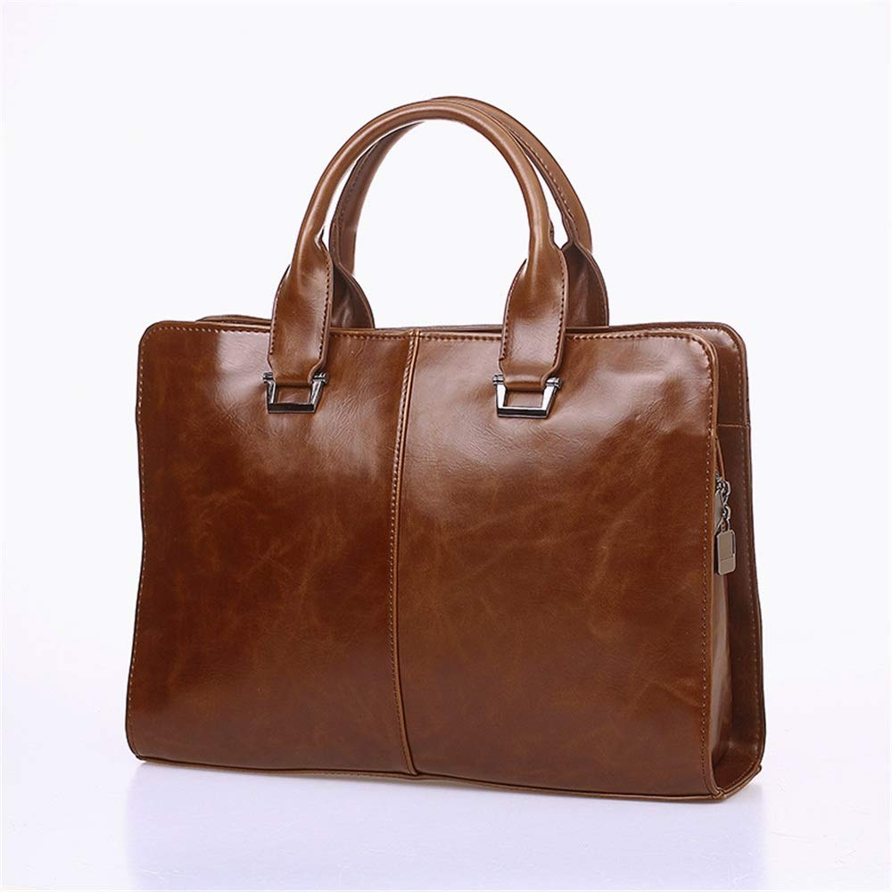 KTYXDE Mens Handbag Cross Section Korean Mens Bag Shoulder Slung Business Computer Briefcase Retro Tide Bag Briefcase