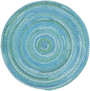 """product image for Capel Rugs Waterway Round Braided Chair Pad, 15"""", Blue"""