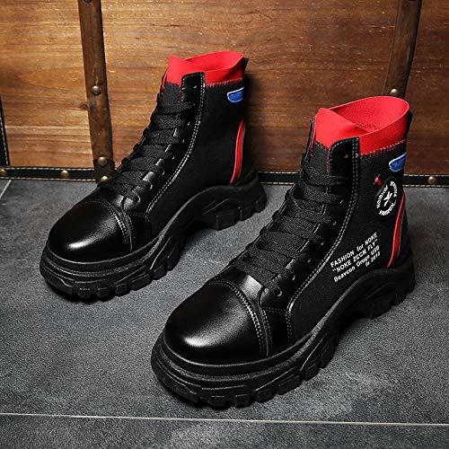 LOVDRAM Stiefel Männer Herrenschuhe Herrenschuhe Herrenschuhe Herbst Schuhe Hohe Schuhe Herren Wild Herren Martin Stiefel Retro Herren Stiefel ad9cdb