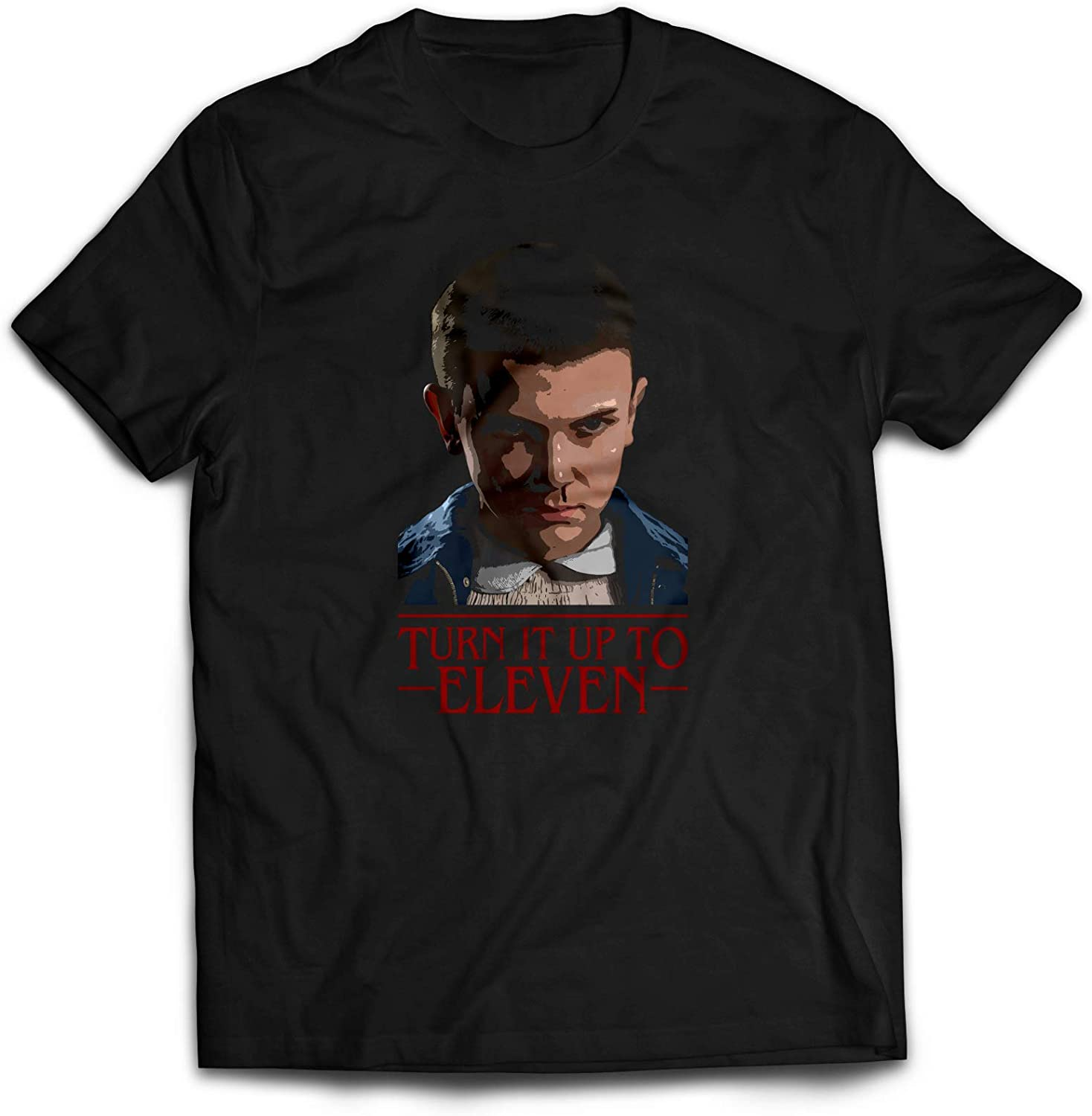 SMARTYPANTS Turn It Up to Eleven - Camiseta Unisex de Sci Fi Things TV Shows Stranger Christmas: Amazon.es: Ropa y accesorios