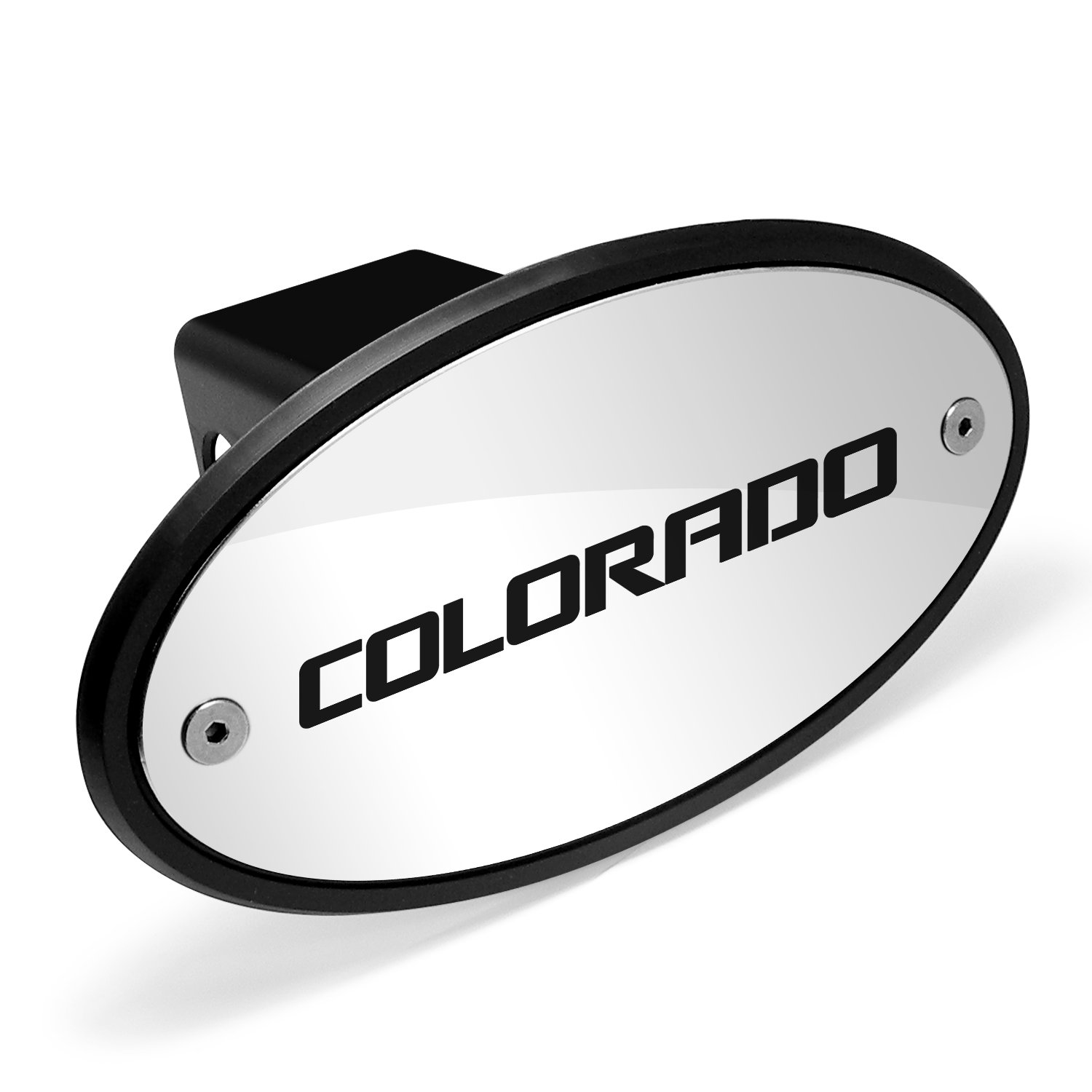 Chevrolet Logo Colorado Chrome Metal Plate 2 inch Tow Hitch Cover by Chevrolet CarBeyondStore