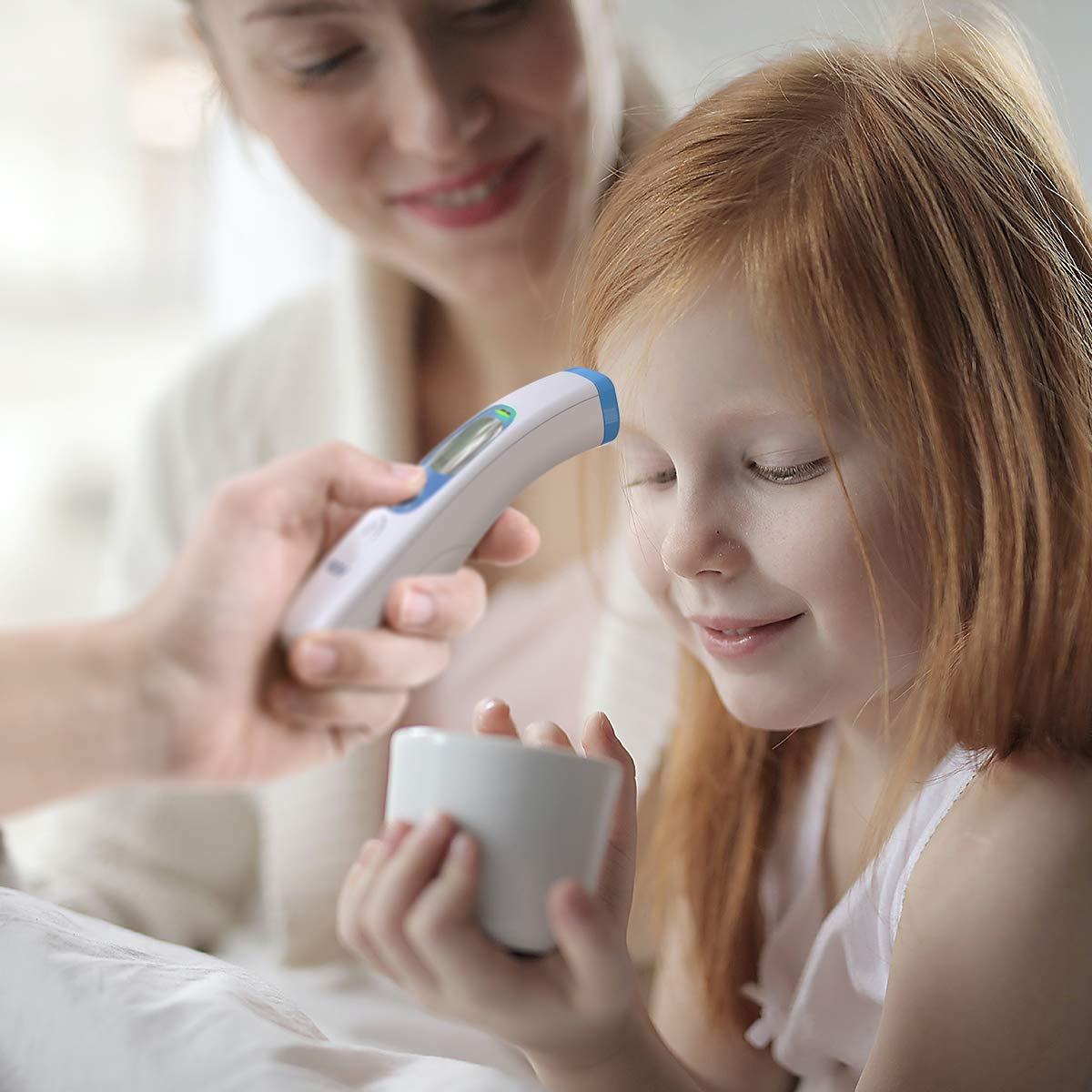 ber/ührungslose Sofortmessungen ohne Ber/ührung ber/ührungsloses Stirnthermometer mit LCD-Display Fieber thermometer Digital Baby und Erwachsener Grande Fieberthermometer
