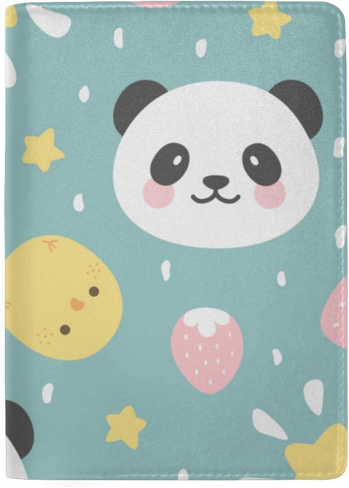 Passport Hard Case Cute Carton Panda Face Animal Stylish Pu Leather Travel Accessories Passport Case Women For Women Men