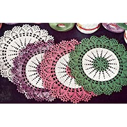 Vintage Crochet PATTERN to make - Thread Doily Mat Motif. NOT a finished item. This is a pattern and/or instructions to make the item only.