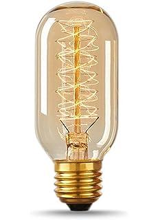 vintage antique bulb 40w edison style t14 spiral filament - Antique Light Bulbs