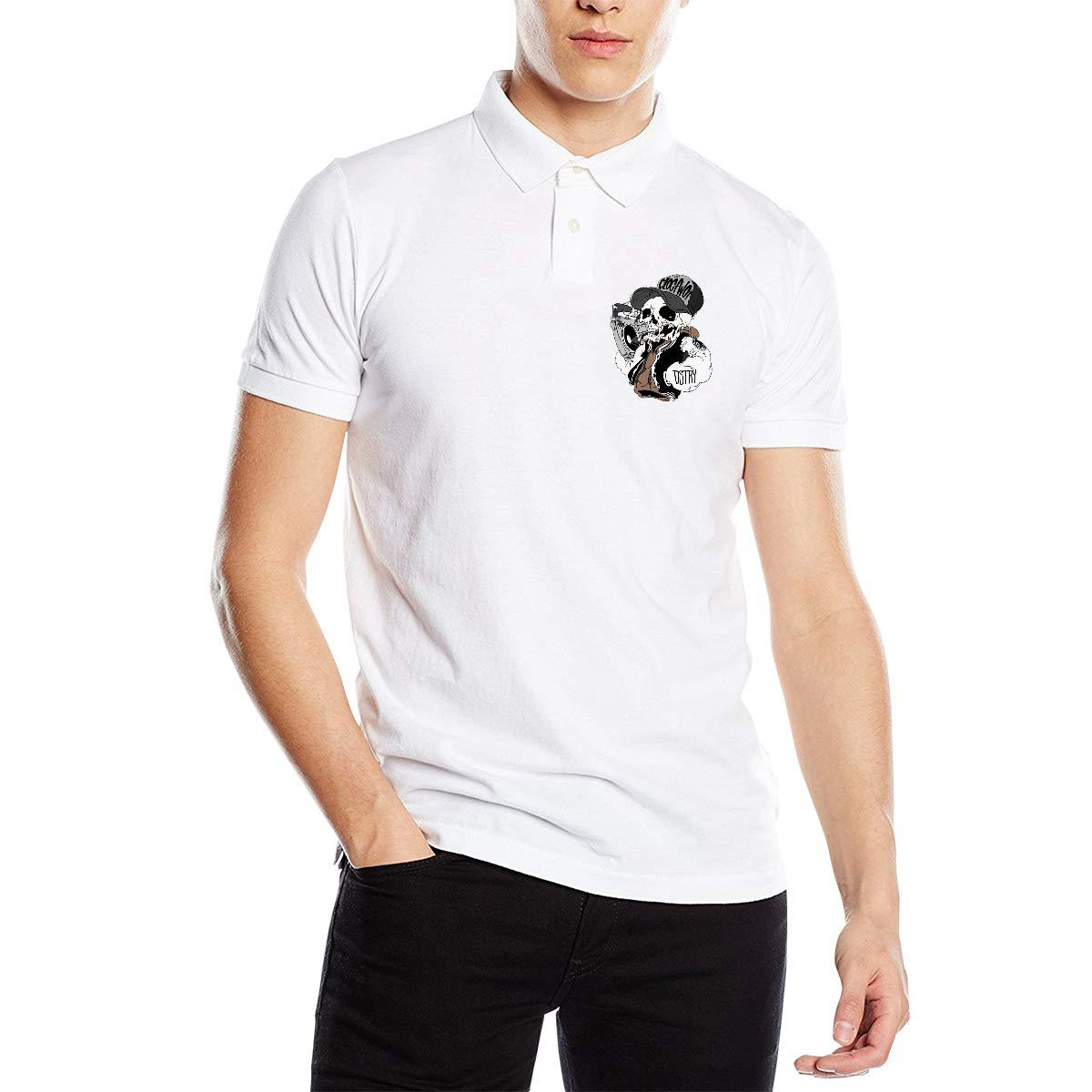 YONG-SHOP - Polo de algodón con diseño de Calavera para Hombre ...