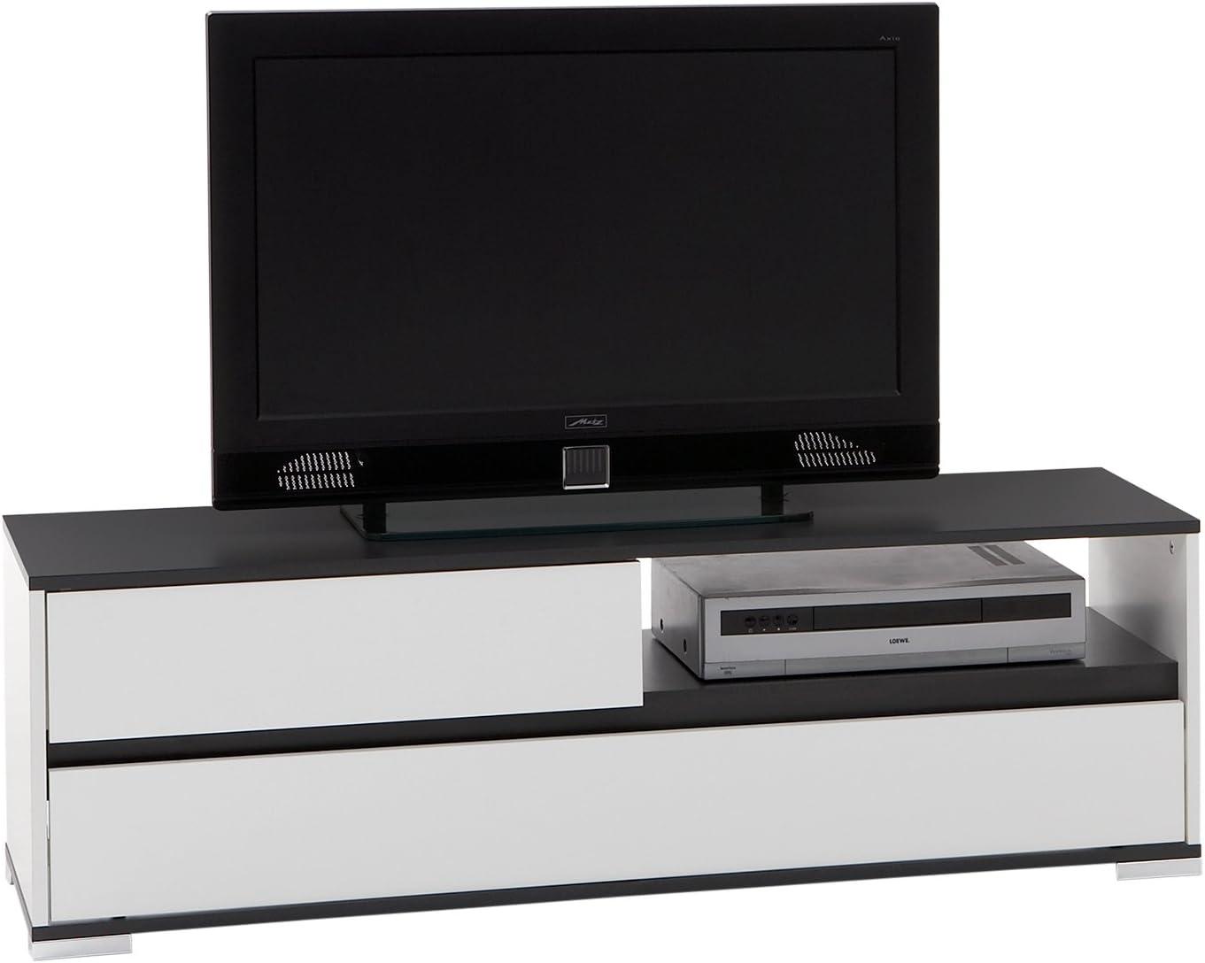 FMD 253-001 Smart - Mueble para televisor o Sistema de Audio y vídeo (125 x 40,5 x 39 cm), Color Blanco y Gris: Amazon.es: Hogar