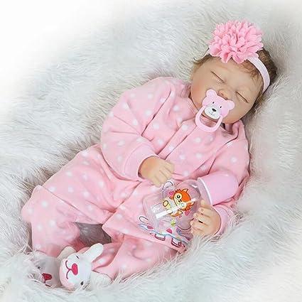 Doll Realista Reborn Bebé Muñeca con Lindo Vestido Suave De ...