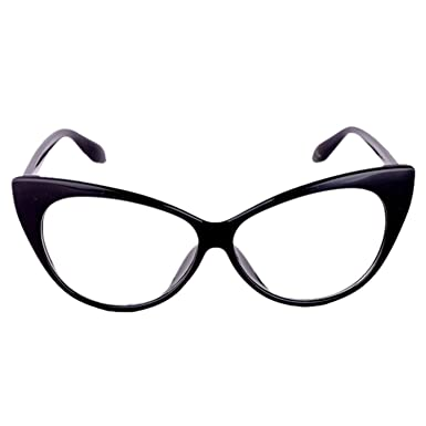 c9ed0d79bf Emblem Eyewear Womens Oversize Retro Nerd Clear Lens Fashion Cat Eye Geek  Glasses Geek Fashion Cat