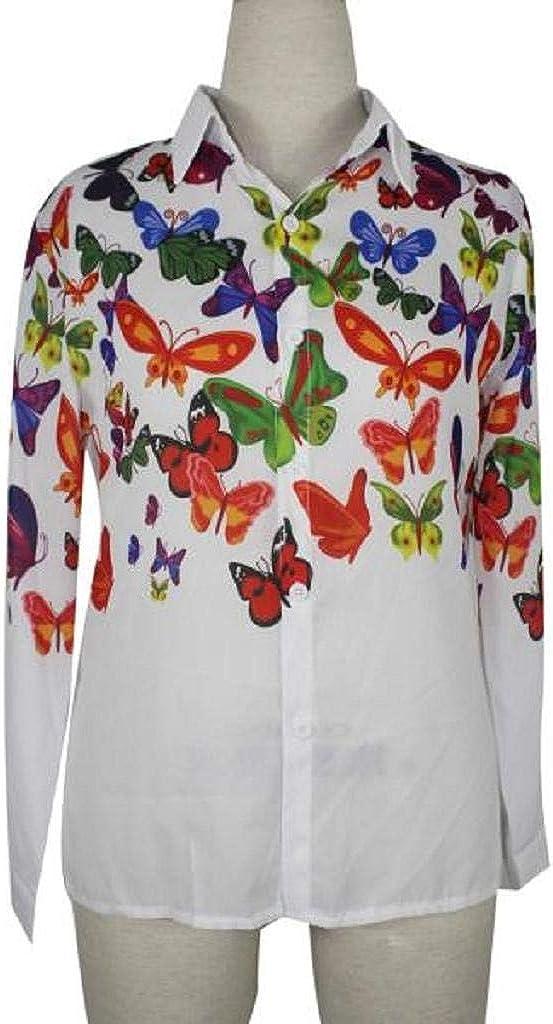 SHOBDW Mujeres Moda Primavera otoño impresión de la Mariposa ...