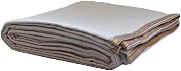 Manta de Yoga sin teñir de algodón con Borde: Amazon.es ...