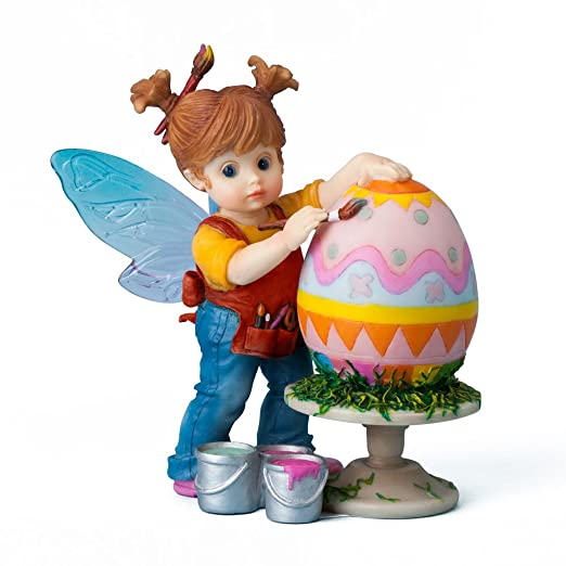 Amazon.com: Enesco My Little Kitchen Fairies Easter Egg Figurine ...