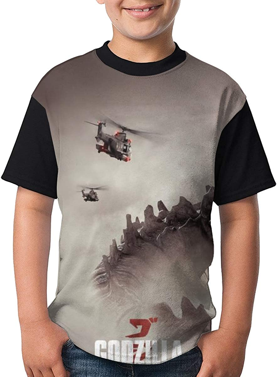 Selfhood-Vogue God-Zilla T Shirts Youth Round Neck Shirt Teenager Boys Personality Tees