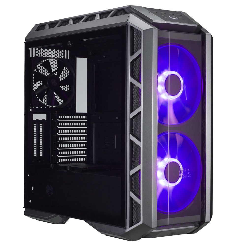 Cooler Master MasterCase H500P ATX Mid-Tower Case with Two 200mm RGB Fans In The Front and Tempered Glass Side Panel Cases (MCM-H500P-MGNN-S00) by Cooler Master